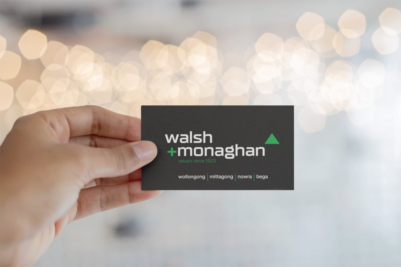 Walsh and Monaghan business cards
