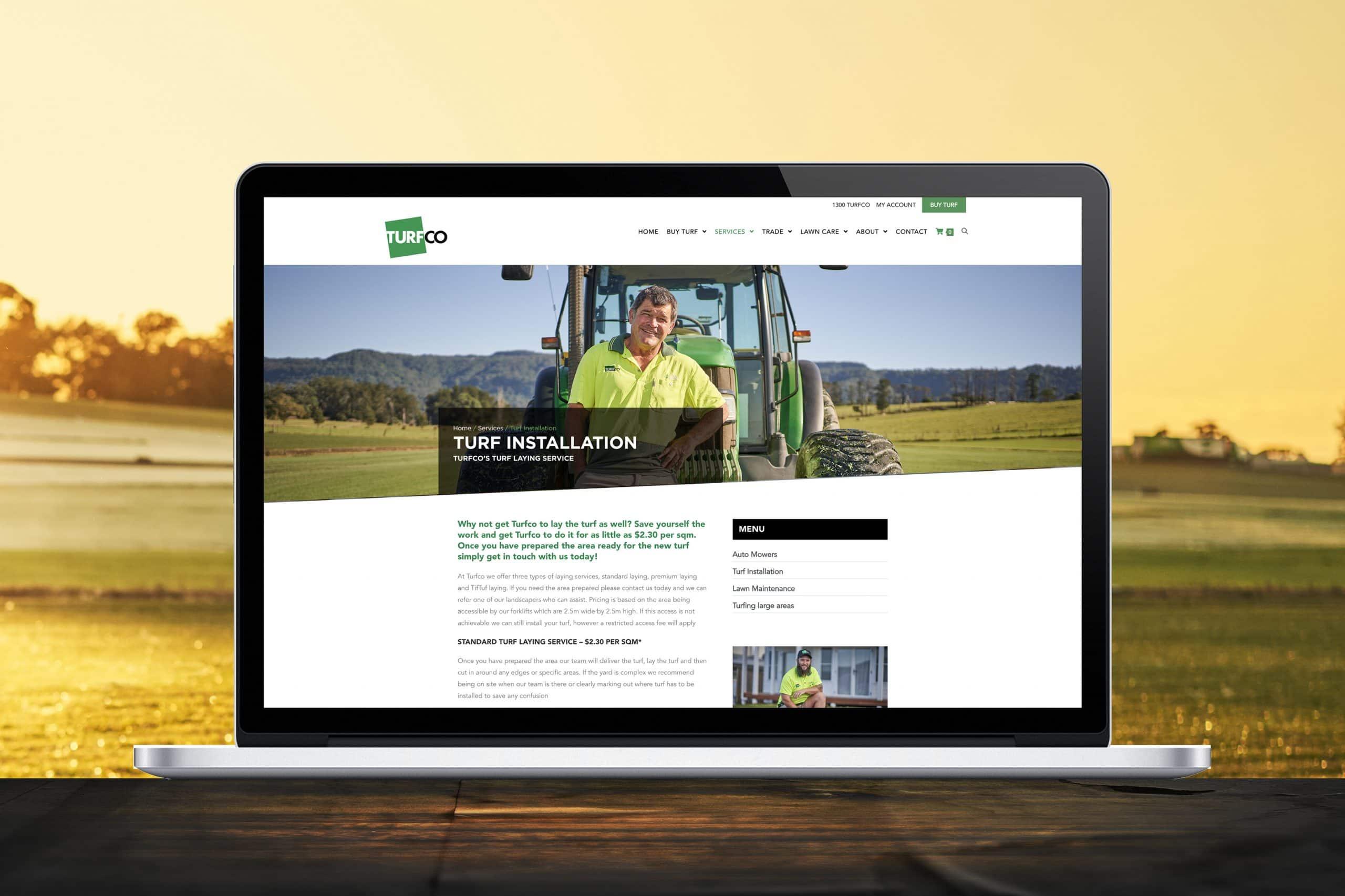 Turfco ecommerce website